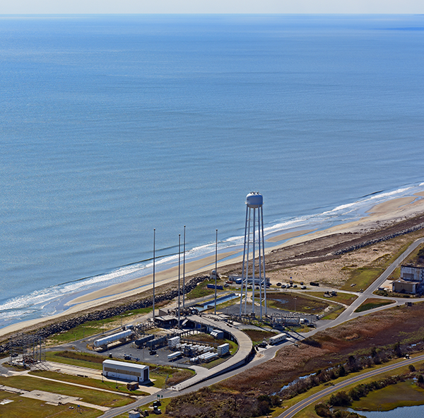 Virginia Space has completed the repairs of the MARS Launch Pad-0A, located on NASA's Wallops Flight Facility and is currently completing performance testing. Photo Credit: Orbital ATK