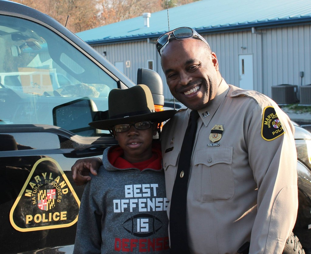 Capt. Kersey and his shopping buddy (Courtesy: Maryland Natural Resources Police)