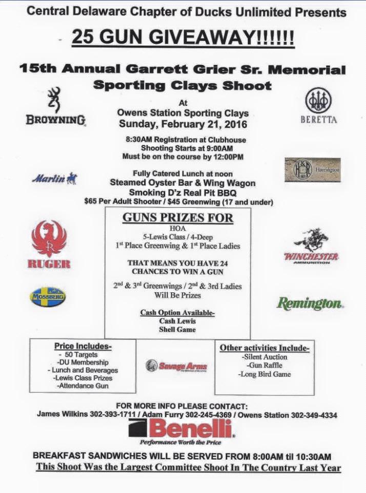 Central Delaware 15th Annual Garrett Grier Memorial Shoot