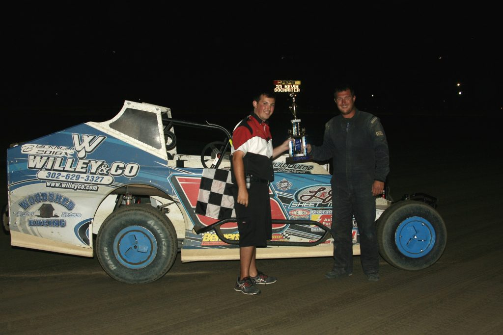 Dirt Track Whaley Takes Super Late Model Win Delaware