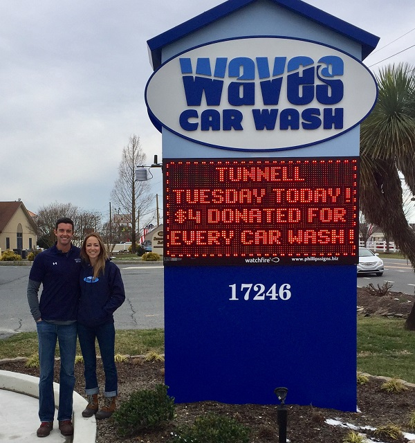Waves Car Wash Holding Fundraiser For Tunnell Cancer