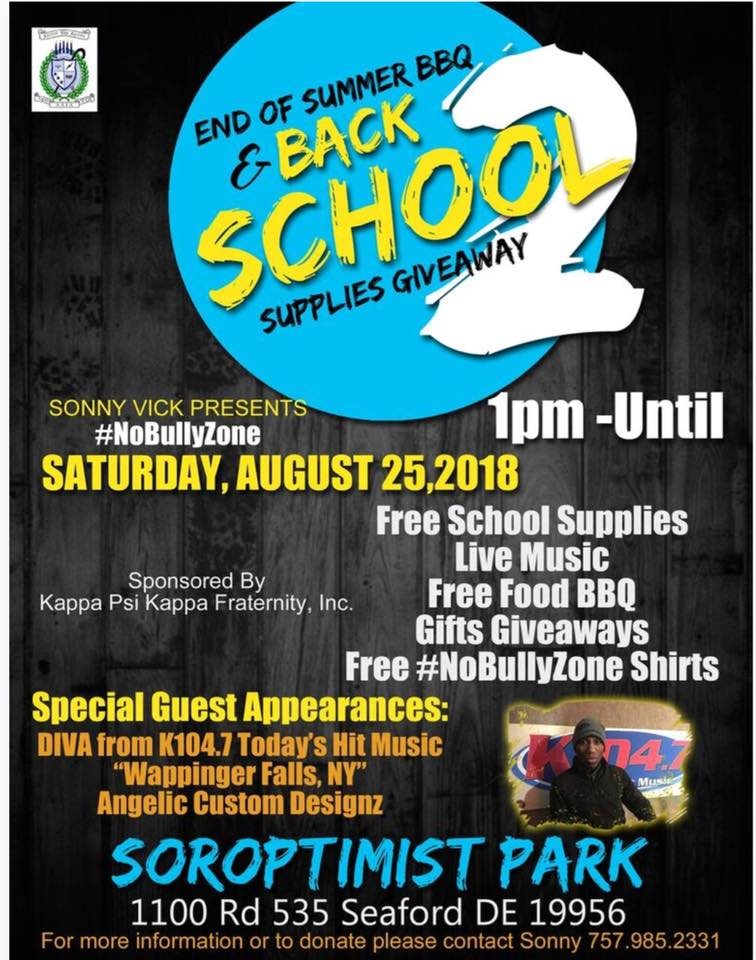 Ed of Summer BBQ and Free School Supplies Giveaway - DelmarvaLife