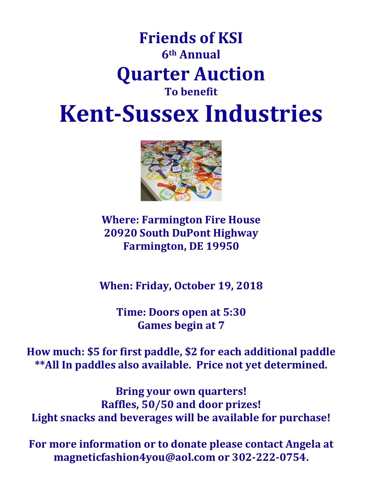 Friends of KSI 6th Annual Quarter Auction - DelmarvaLife