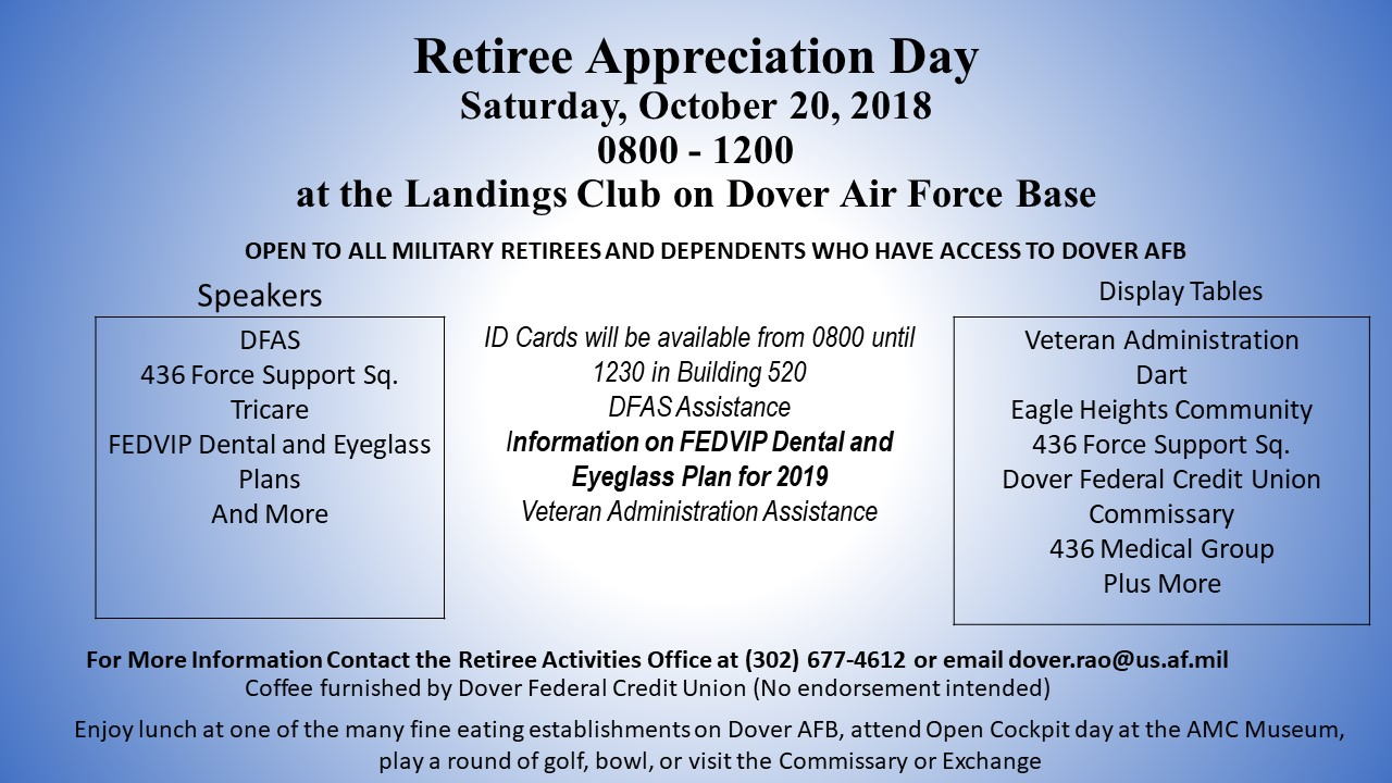 Dover AFB RETIREE APPRECIATION DAY - DelmarvaLife