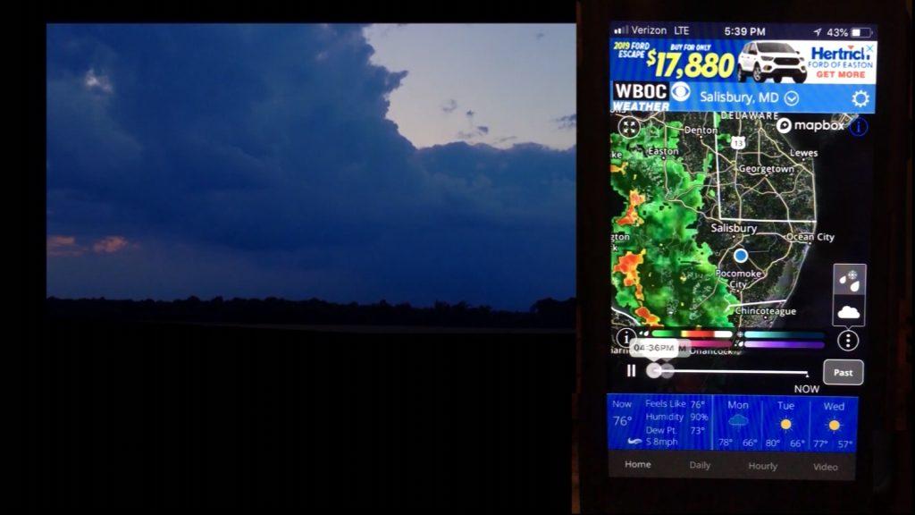 Travels With Charlie: WBOC Weather App & Lightning Storm