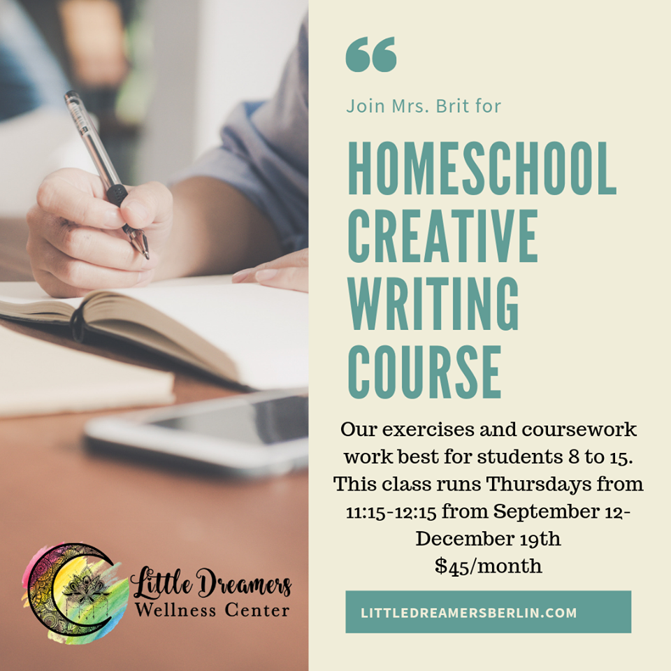 Homeschool Creative Writing Class - DelmarvaLife