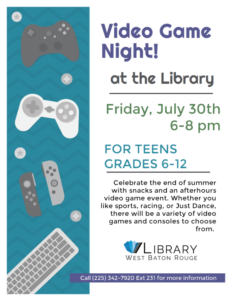 Video Game Night at the Library