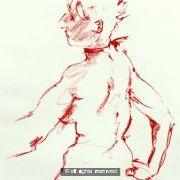 Ma Cherie A2 size original drawing gsk 046