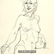 Sitting Pretty A2 size original drawing No.28
