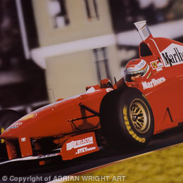 'AGAINST THE ODDS'.  EDDIE IRVINE