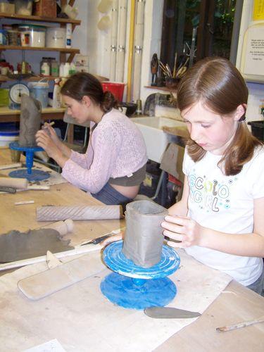 Clay workshop for children