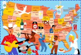 Map of America for The Sunday Times