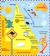 Map of Queensland for The Sunday Times