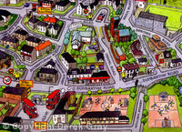 cartoon map - Duntocher (detail)