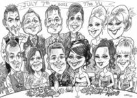 Top Table caricature