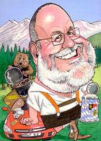 Caricature 70th birthday