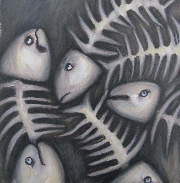 Fish Bones Drawing Fish Bones