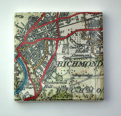 Richmond map Coaster