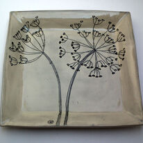 Large Square Cow Parsley Platter