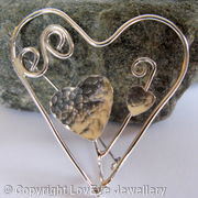 Heart and swirl Brooch