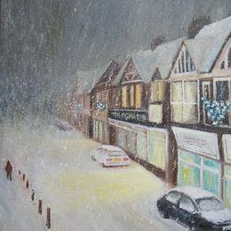 Falling snow, Lavant Street
