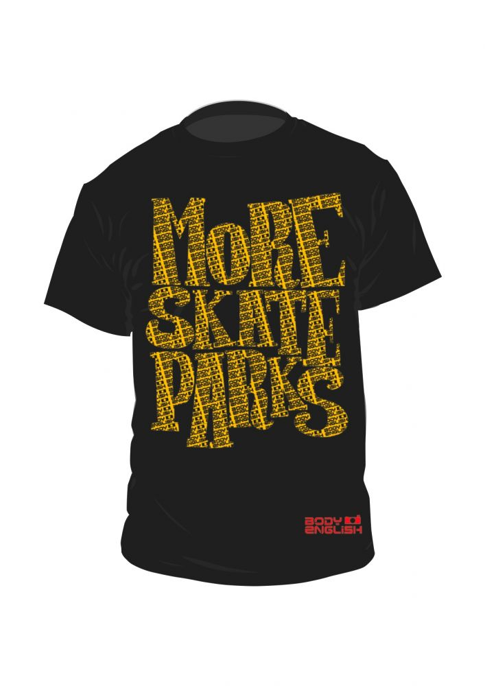 more-skate-parks- NEW T SHIRT - buy one and support St GEorge skatepark