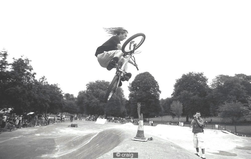 2003 first ever st georges jam and this is me 10mins after my stolen bmx was returned courtesy of northern bmxers bumpin into crack head thiefs on route to jam - KARMA