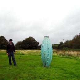 giant verdigris pot