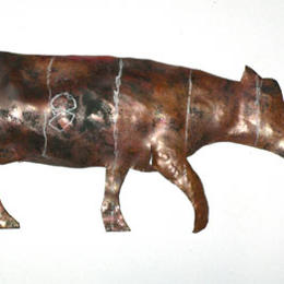 walking cow zoetrope -detail