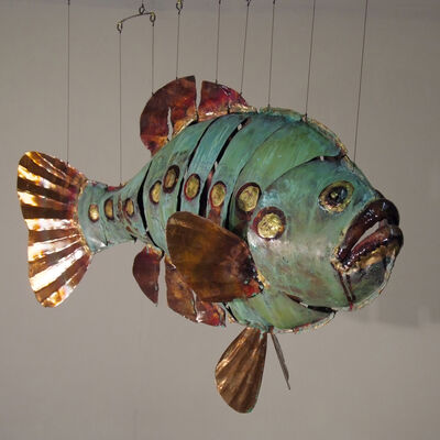 green grouper with a line of gold spots