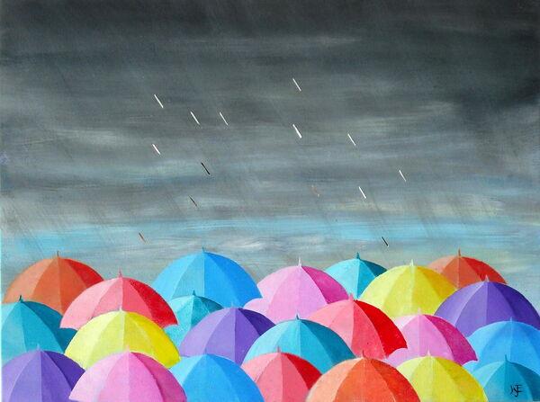 Coloured Umbrellas