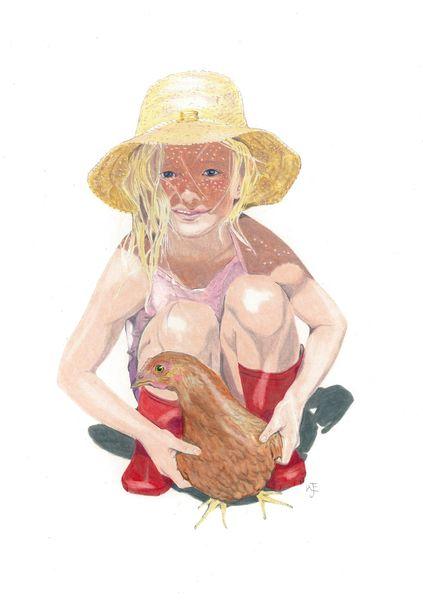 Child with Chicken