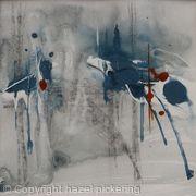 Blue Clouds; Rain grey window