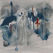 Blue Clouds; Rain grey snow