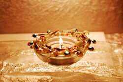 Golden Sparkle Tea Light