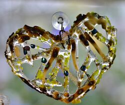 Fused Glass Heart Nerja