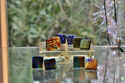 Fused Glass Cuff-links