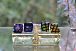 Check and Blue Honey Cuff-links