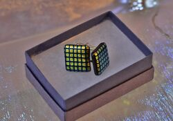 Dichroic Check Cuff-links