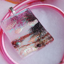 Tree of Life Pendant Pink
