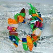 Resin Bracelet Clear Spring