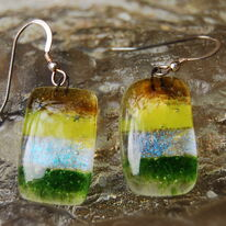 Glass Earrings Earth