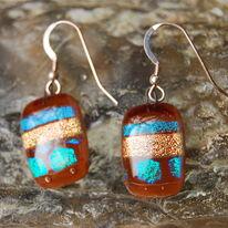 Glass Earrings Maple Valley