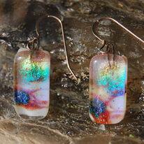 Glass Earrings Landscape