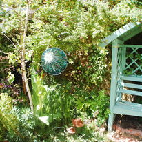Blue Azure Orb in Garden