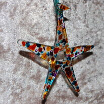 Christmas star (gold/blue)