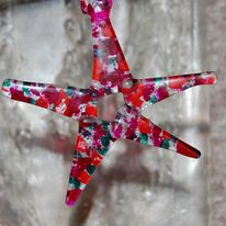 Christmas star (pink/red)