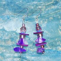 Resin and Jemstone Earrings