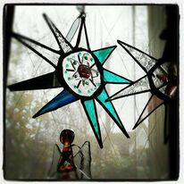 Copper Foiled Glass Star