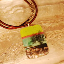 Yellow Green Tree of Life Pendant